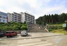 Sanatorium Rodnik Altaya at the resort Belokuriha Stock Image