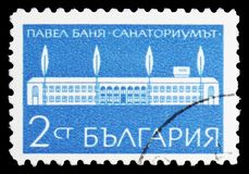 Sanatorium w Pavel Banya, zdroju seria około 1969, obrazy royalty free