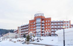 SanatoriumKuuroord Kuzbass Belokurikha, Altai royalty-vrije stock fotografie