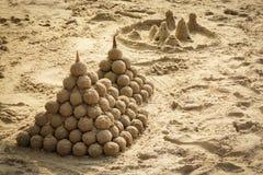 Sancastles на пляже Стоковые Изображения RF