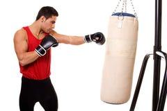 Séance d'entraînement lourde de sac Images libres de droits