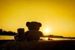 Séance douce d'ours de nounours d'amour Image stock