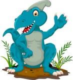 Séance drôle de bande dessinée de tyrannosaure Photos stock