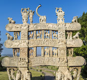 Sanchi India Gateway World Heritage. Gateway of  Great Stupa of Sanchi , Buddhist Monument of Sanchi Ancient India near Bhopal, Madhya Pradesh, India. A world Stock Images