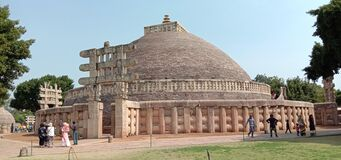 Free Sanchi Stupa Built In 13th Century BC By Moryas Budhist Royalty Free Stock Photos - 184171408