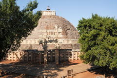 Sanchi Stupa is located at Sanchi Town in India Royalty Free Stock Images
