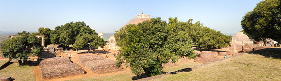 Sanchi Stupa is located at Sanchi Town in India Royalty Free Stock Photos