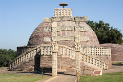Sanchi Stupa is located at Sanchi Town in India Royalty Free Stock Photo