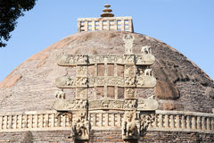 Sanchi Stupa is located at Sanchi Town in India Stock Images