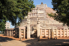 Sanchi Stupa is located at Sanchi Town in India Royalty Free Stock Image