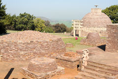 Sanchi Stupa is located at Sanchi Town in India Royalty Free Stock Photography