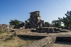 Sanchi Temple Site India. Buddhist Monument and Temple at Sanchi Excavation Site near Vidisha,  Madhya Pradesh Royalty Free Stock Photo