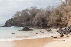 Sancho海滩费尔南多・迪诺罗尼亚群岛海岛 库存图片
