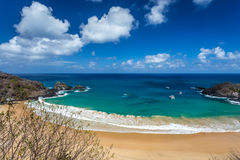 Sancho Bay,in Fernando de Noronha Royalty Free Stock Images