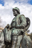 Sancho Panza from monument to Cervantes and heroes of his books Stock Photos