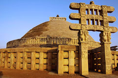 Sanchy. Großes Stupa Lizenzfreie Stockfotos