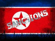 Sanciones financieras contra el ejemplo de Corea del Norte 3d libre illustration