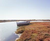 Sancti陪替氏沼泽在安大路西亚,西班牙 免版税库存图片