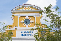 Sancti Spiritus City Hall or Municipal Popular Assembly building located in the city main plaza. Stock Photo