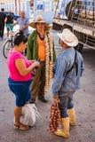 Cuban Garlic Seller stock photos