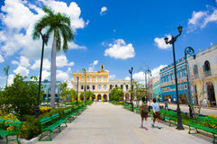 SANCTI SPIRITUS, CUBA - SEPTEMBER 5, 2015: Latijns Stock Afbeelding