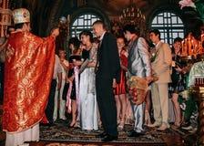 Sanctifies graduates in the church Stock Photos