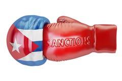 Sanctions against Cuba concept, 3D rendering Stock Image