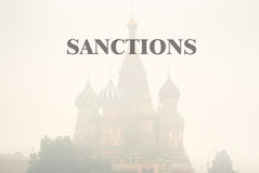 Sanctions against Russia. St. Basil's Cathedral - one of the symbols of Moscow and Russia royalty free stock photography