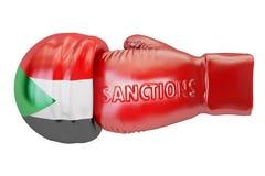 Sanctions against Sudan concept, 3D rendering Stock Photo