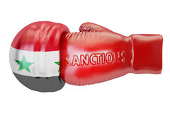 Sanctions against Syria concept, 3D rendering Stock Photo