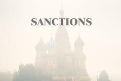 Sanctions contre la Russie Photographie stock libre de droits