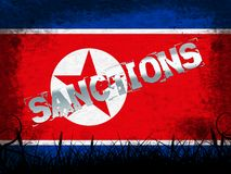 Sanctions financières contre l'illustration de la Corée du Nord 3d illustration libre de droits