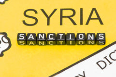 Sanctions on Syria Royalty Free Stock Photo