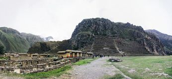 Sanctuaire colossal d'Ollantaytambo au Pérou photo stock
