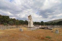 Sanctuaire d'Asklepios chez Epidaurus Image libre de droits