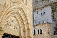 Sanctuaire dans Rocamadour Photos stock