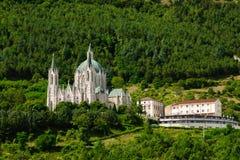 Sanctuaire de Castel Petroso Photos libres de droits