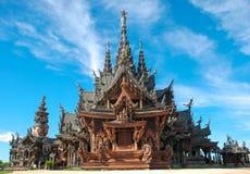 Sanctuaire de la vérité, Pattaya Images libres de droits