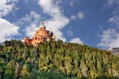Sanctuaire de Madonna di San Luca, Bologna images libres de droits