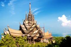 Sanctuaire de Pattaya de la vérité Thaïlande Photos stock
