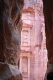 sanctuaire de PETRA de passage étroit de la Jordanie à photo libre de droits