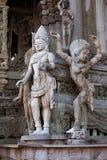 Sanctuaire en bois de Pattaya de sculpture de la vérité Thaila Photos libres de droits
