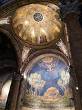 Sanctuary of the agony of Jesus Christ - Basilica of Gethsemane. Architectural details - interior stock photography