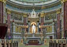 Sanctuary and altar of St. Stephen`s Basilica in Budapest, Hungary Stock Photo