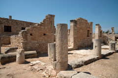 The Sanctuary of Apollo Hylates, Cyprus. The sanctuary is located about 2,5 kilometres west of the ancient town of Kourion along the road which leads to Pafos Royalty Free Stock Photo