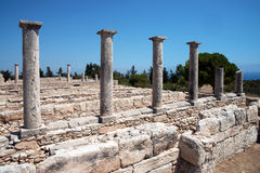 The Sanctuary of Apollo Hylates, Cyprus. The sanctuary is located about 2,5 kilometres west of the ancient town of Kourion along the road which leads to Pafos Stock Photography