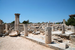 The Sanctuary of Apollo Hylates, Cyprus. The sanctuary is located about 2,5 kilometres west of the ancient town of Kourion along the road which leads to Pafos Stock Photos