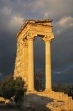 Sanctuary of Apollon Hylatis. Temple of Apollo in Kourion. Cyprus Royalty Free Stock Images