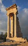 Sanctuary of Apollon Hylatis. Temple of Apollo in Kourion. Cyprus Royalty Free Stock Photo