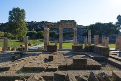The sanctuary of Artemis at Brauron, Attica - Greece. View of the sanctuary of Artemis at Brauron, Attica - Greece stock images